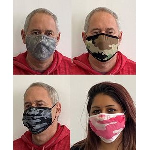 Camo - 2 Layer Cloth Face Mask Nose Bunch
