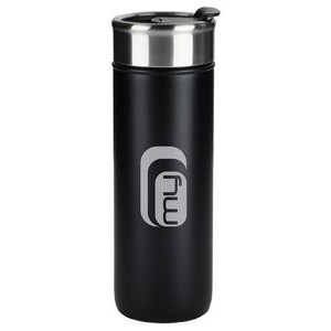 Kingston 18oz black stainless steel vacuum tumbler with lid