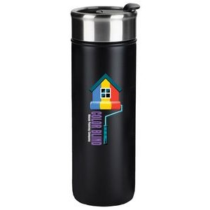 Kingston 18oz black stainless steel vacuum tumbler with lid - Digital Print