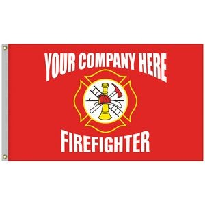 3' x 5' Firefighter Single Reverse Knitted Polyester Flag